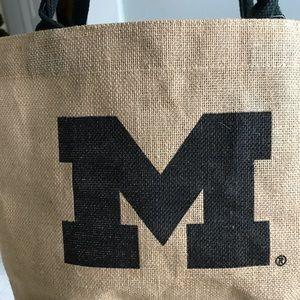 New University of Michigan Brown & Black Tote Bag